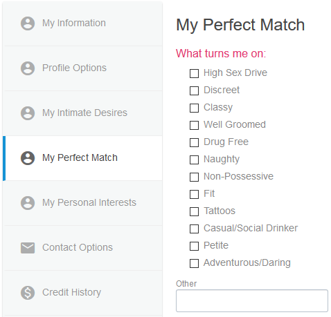 your match settings